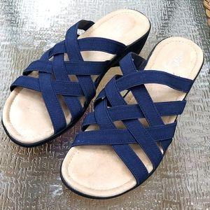 Women's Sandals, Blue, size 9, Memory Foam